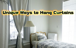Photo of Unique Ways to Hang Curtains