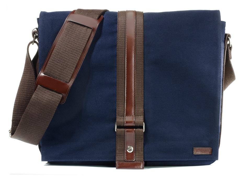 Bag Blue Canvas Fabric Blue Man