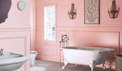 having a pink bathroom