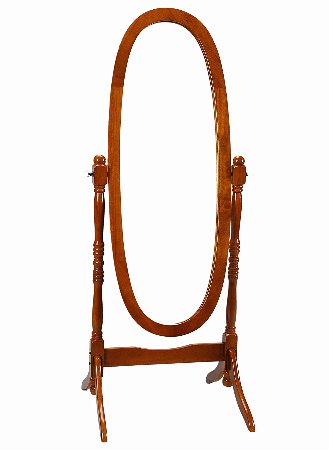 Frenchi-Home-Furnishing-Oak-Cheval-Mirror-Adjustable-Full-length-Oval-Mirror