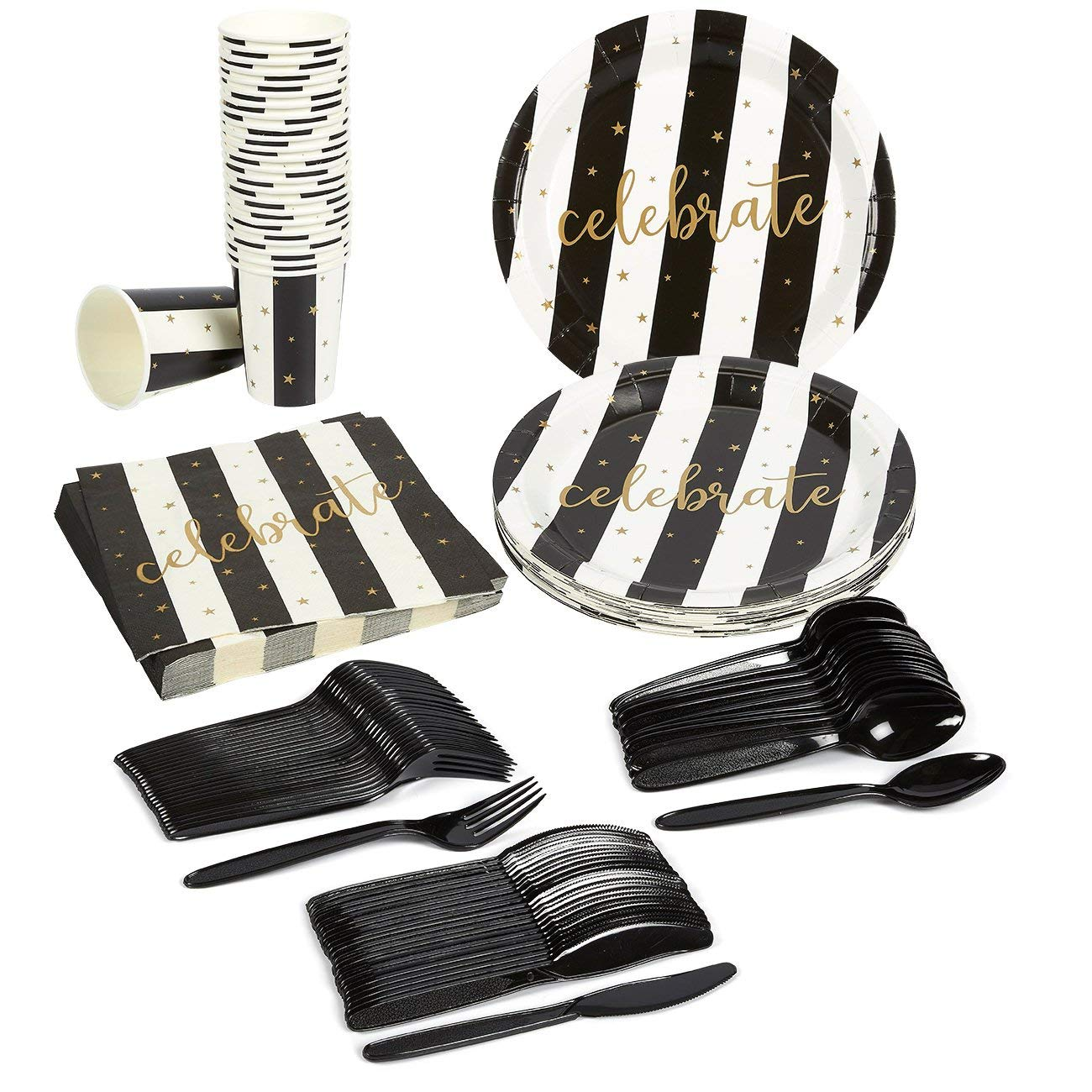 Juvale-Black-and-Gold-Party-Supplies
