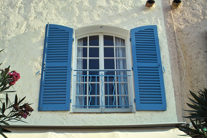 Exterior French shutters