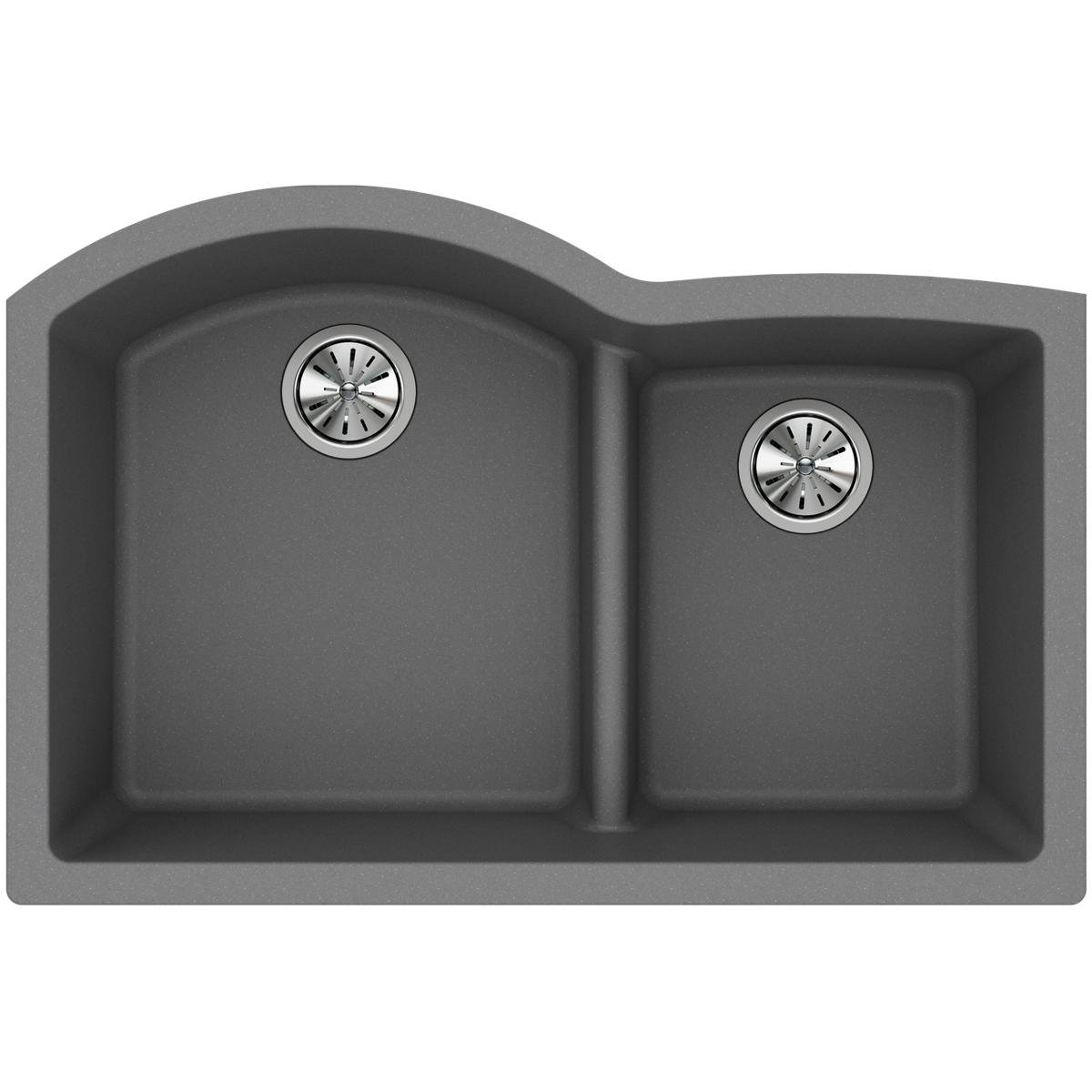 Elkay-Quartz-Classic-ELGHU3322RGS0-Greystone-Offset-60-40-Double-Bowl-Undermount-Sink-with-Aqua-Divide