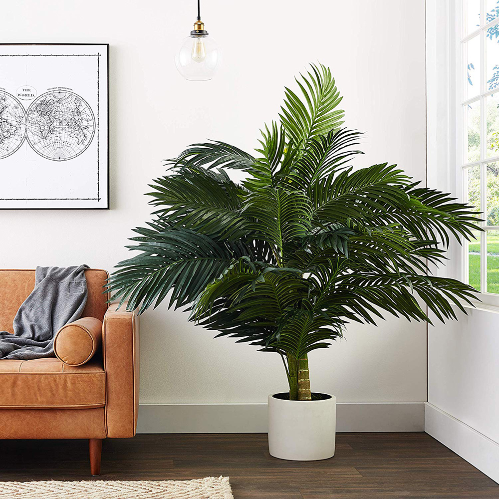 Nearly Natural 5326 8ft Golden Cane Palm Silk Tree