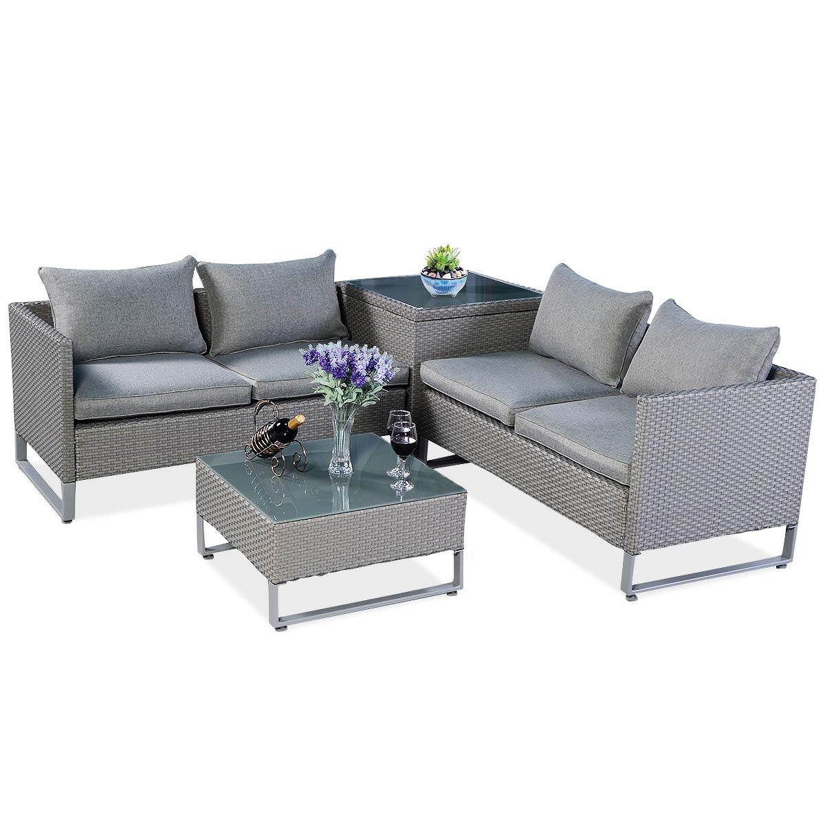 Tangkula-4-Piece-Patio-Furniture-Set-Outdoor-Love-Seat-with-Storage-Conversation-Set