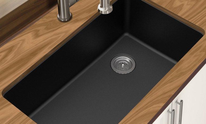 Winpro-New-Black-Granite-Quartz-Single-Bowl-Undermount-Sink-