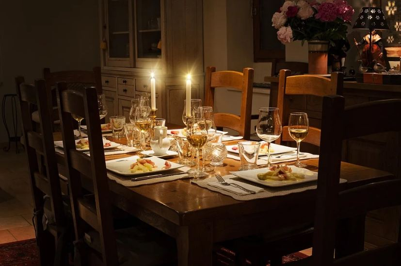 Dining tables create a statement of their own.