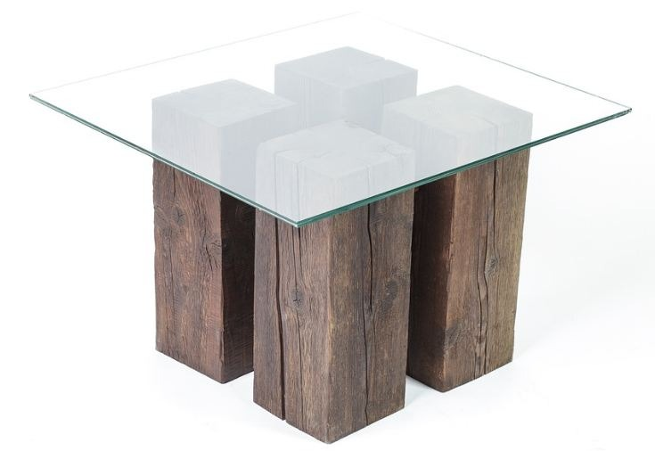 Glass tabletops can be used perfectly with a wooden base.